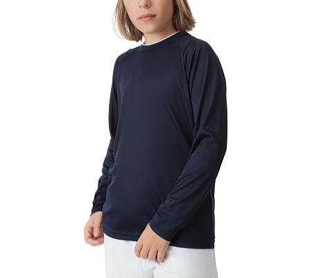 フィラ シャツ ブラウス ポリエステル キッズ 男の子【Fila Fundamental Long Sleeve Top】Peacoat/Whi