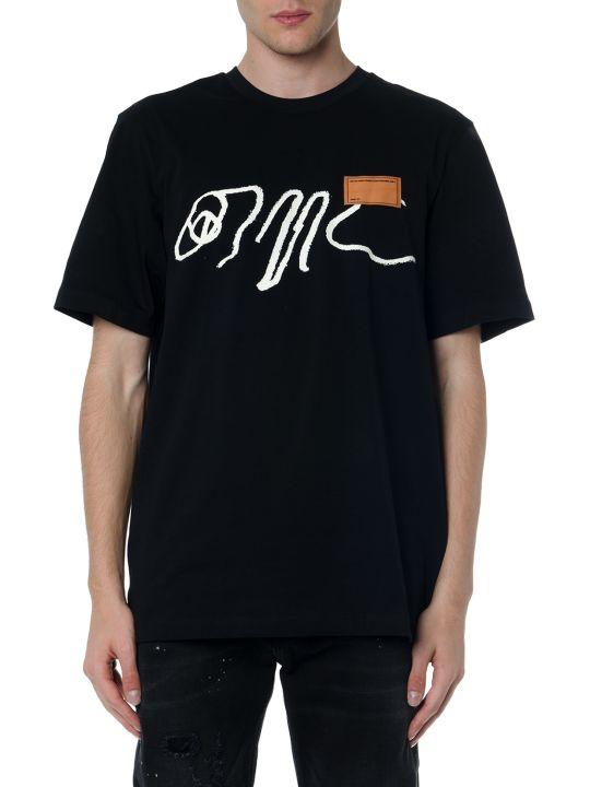 値引 オーエーエムシー トップス メンズ【OAMC With Black Cotton トップス T Shirt With Cotton Logo Print】Black:Everyone's店, 次世代ショップまたまた:374ce46a --- nagari.or.id