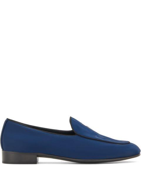 ジュゼッペザノッティ ローファー メンズ【Giuseppe Zanotti Rudolph G-flash loafers】Blue