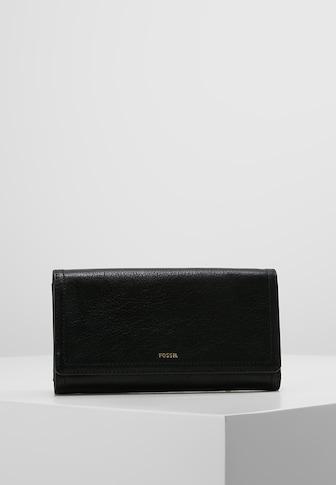 フォッシル 財布 ハンドバッグ レディース【Fossil LOGAN - Wallet - black】black
