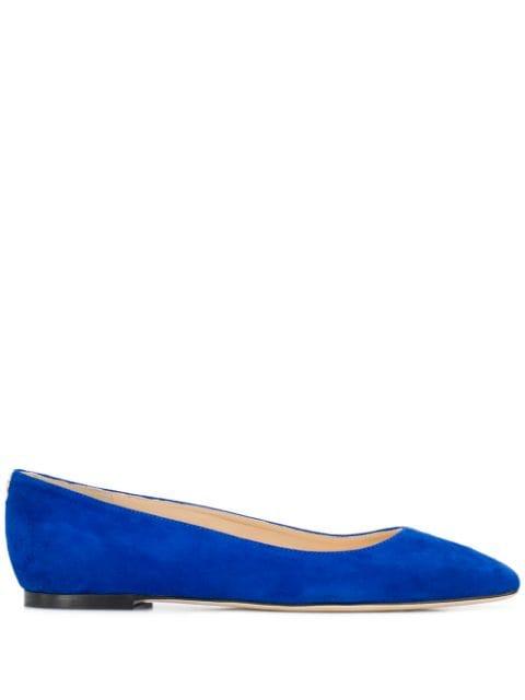 ジミーチュウ バレエシューズ パンプス レディース【Jimmy Choo Mirele ballerina shoes】Blue