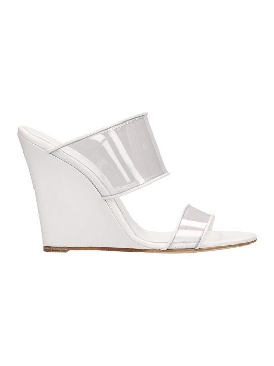 パリテキサス ウェッジ サンダル レディース【Paris Texas Plexi Sandals Mules】white