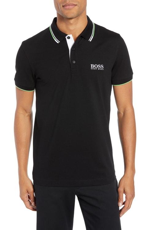 ボス ポロシャツ トップス ポロ メンズ【BOSS Paddy Regular Fit Polo】Black