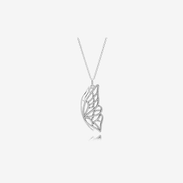パンドラ ネックレス アクセサリー レディース【Pandora New Beginning Butterfly Pendant Necklace Clear