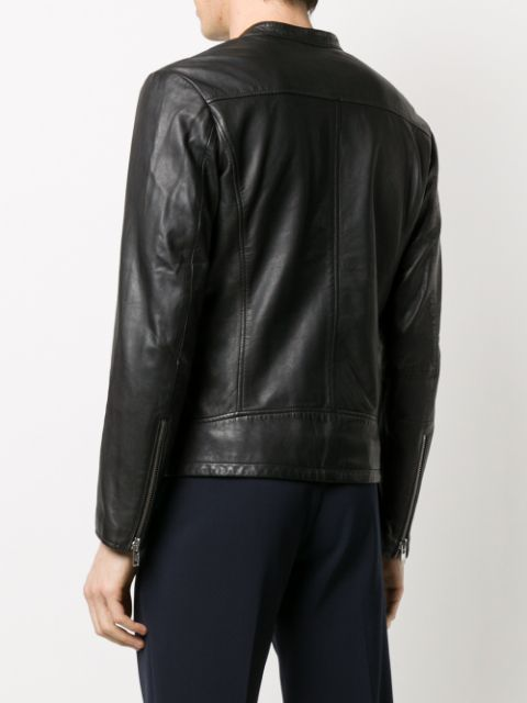 ソード6644 レザージャケット 革 ジャケット メンズ SWORD 6644 cracked effect leather jacket Black08nwPOXk