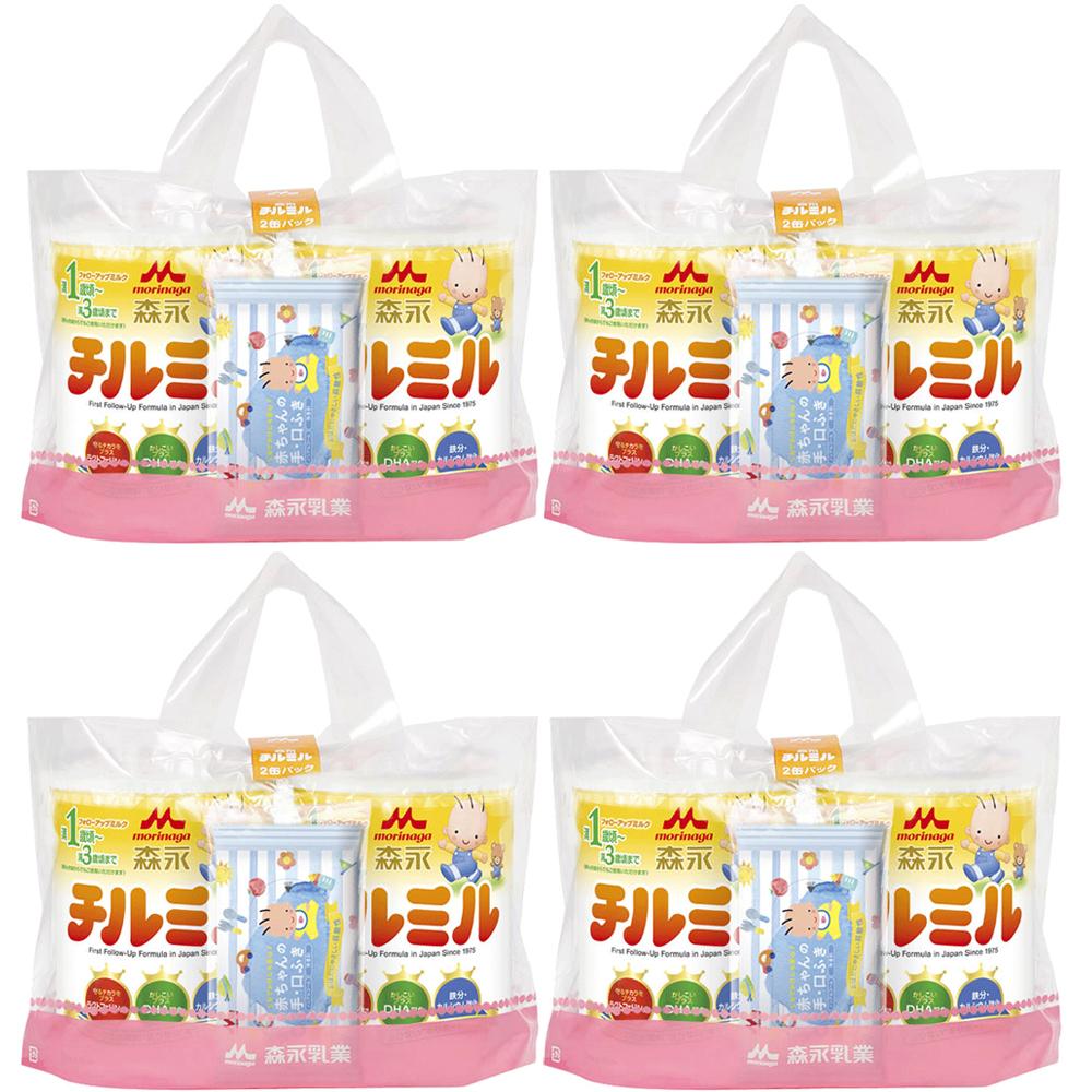 森永乳業 チルミル2缶パック ケース 820g×2缶×4
