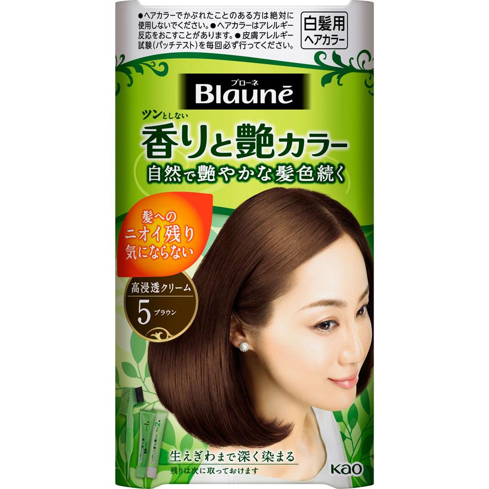 花王 ブローネ 香りと艶カラー クリーム 5 ブラウン 80G (医薬部外品)
