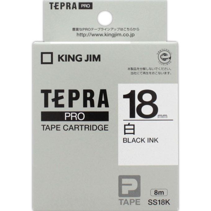 税込3 980円のお買い上げで送料無料 ドラッグストアマツモトキヨシ 期間限定特価品 市場店 キングジム PROテープカートリッジ 18mm SS18K 限定モデル テプラ