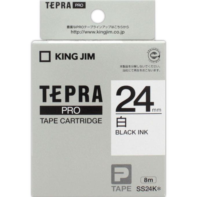 税込3 980円のお買い上げで送料無料 ドラッグストアマツモトキヨシ 市場店 キングジム SS24K テプラ 低価格 PROテープカートリッジ 24mm 春の新作シューズ満載
