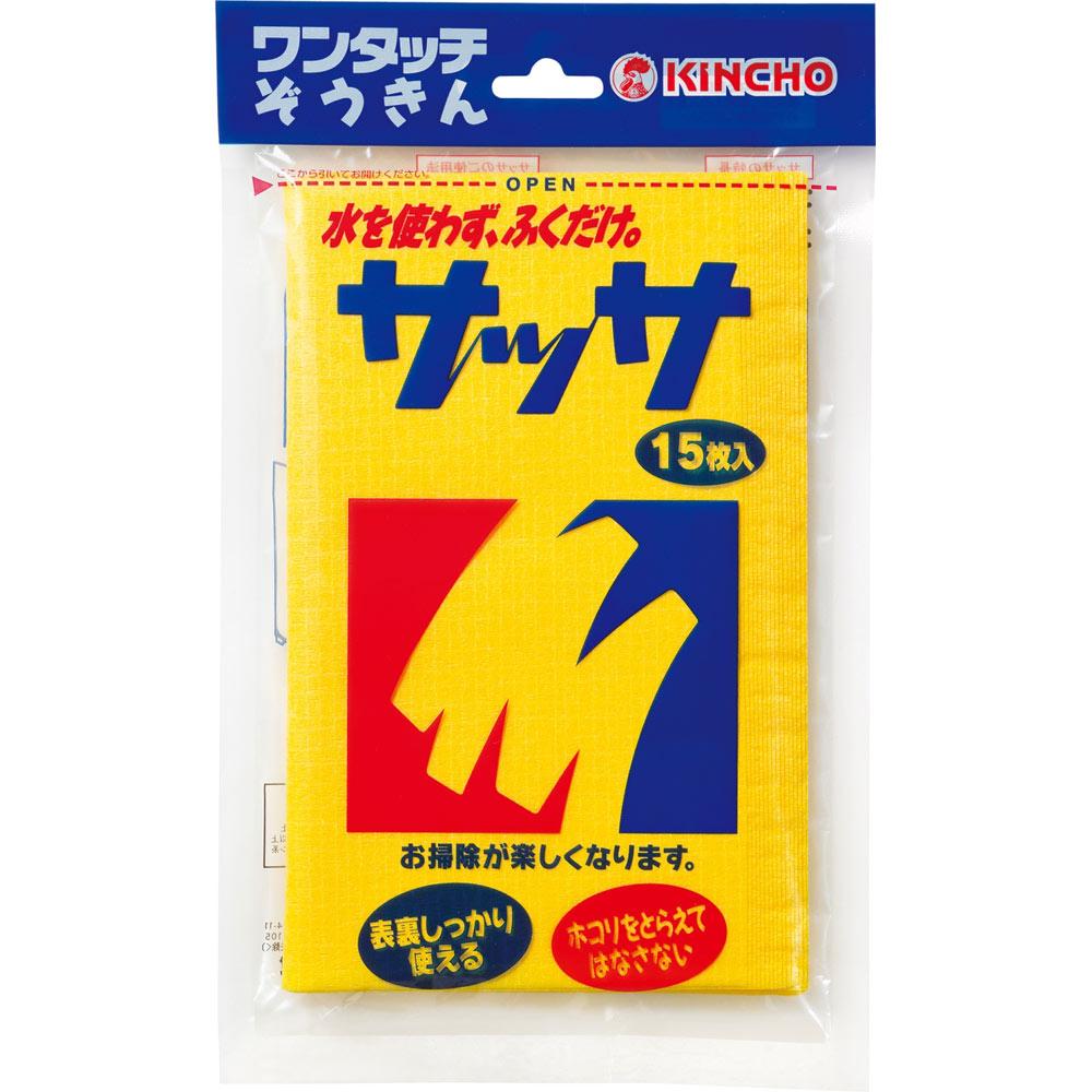 大日本除蟲菊 KINCHO サッサ ホコリ取りクロス ドライシート 15枚