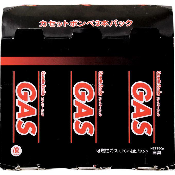 東京たばこ商事 ファイヤーシェフ カセットボンベ 250g×3個