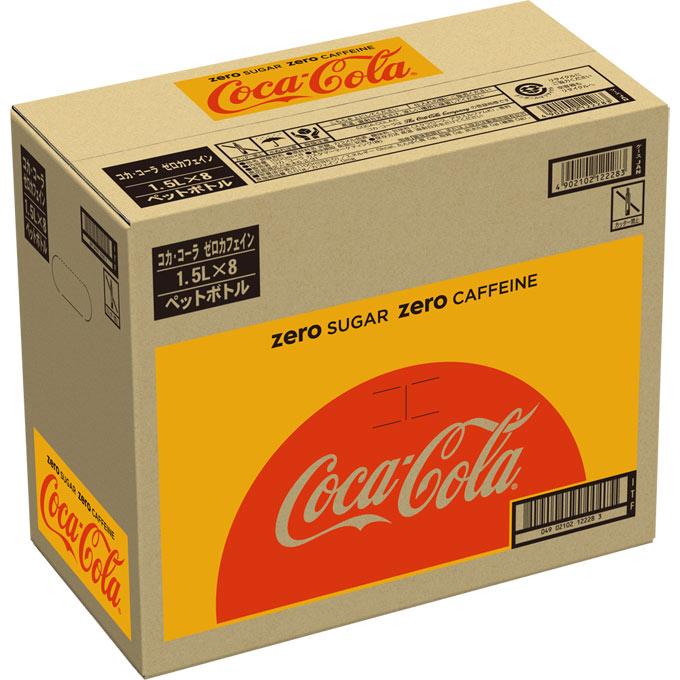 日本コカ・コーラ コカ・コーラ ゼロ カフェイン ケース 1500ML×8
