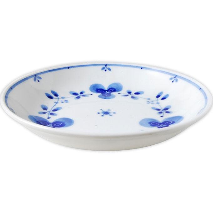 藍らいふ 軽量5.0皿 藍つづり 美濃焼