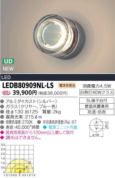 LEDブラケット 300シリーズ■白熱灯40Wクラス■電球色相当 LEDB80909NL-LS