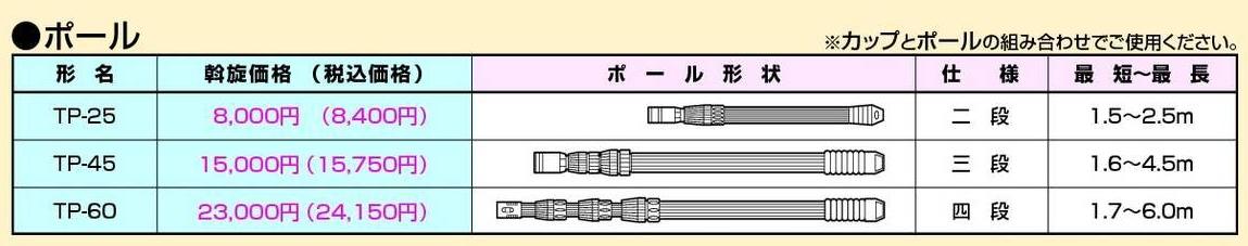 ランプチェンジャー TAMATOOLU■ポール 三段 TP-45