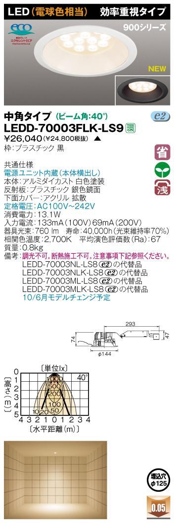 E-CORE LEDダウンライト900シリーズ◆効率重視タイプ LEDD-70003FLK-LS9