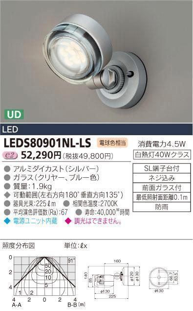 E-CORE LED屋外用スポットライト 300シリーズLEDS80901NL-LS