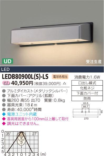 E-CORE LED表札灯 LEDB80900L(S)-LS