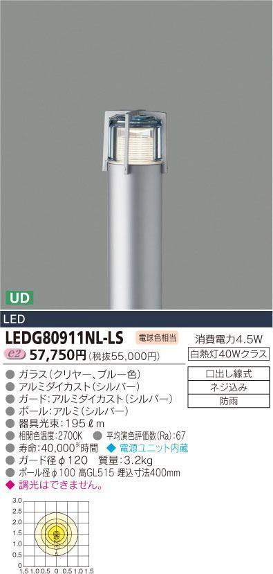 E-CORE LEDガーデンライト300シリーズ LEDG80911NL-LS