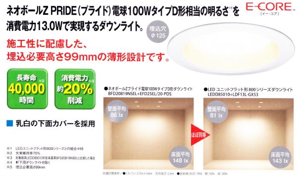 LEDユニットフラット形800シリーズ13.0W形ダウンライト 高気密SGI形 アルミ ランプ別売◆LEDD85010 10台セット