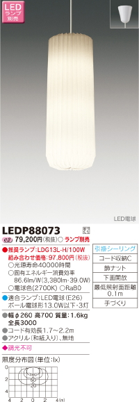 LEDペンダント 吹き抜けペンダント フランズ◆ランプ別売◆LEDP88073