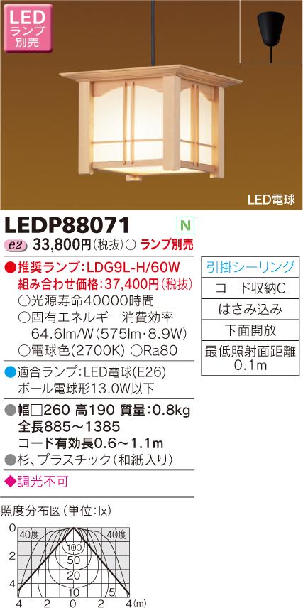 小形ペンダント LED電球別売◆LEDP88071