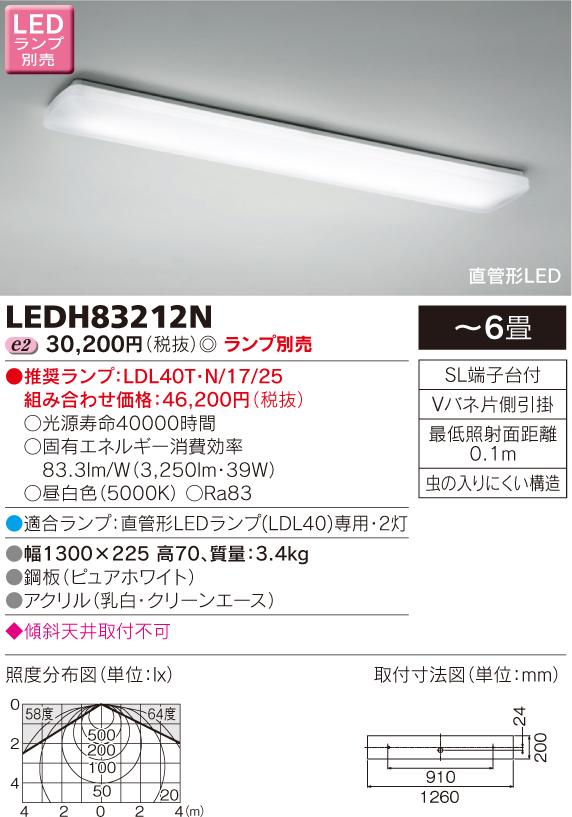 キッチンライト LEDランプ別売◆LEDH83212N