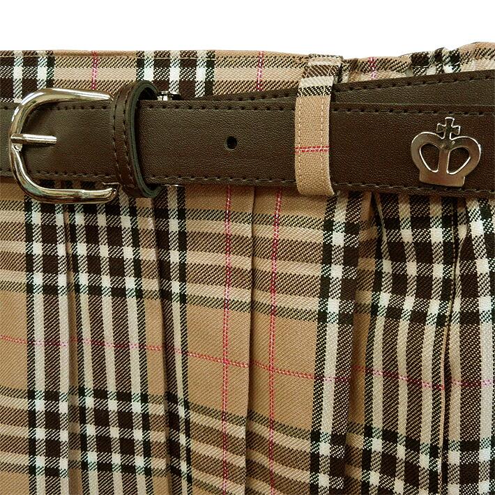 f6e67f0e5 ... Skirt 8200 beige skirt 160 with child pleated skirt lattice pleated  skirt belt of the woman ...