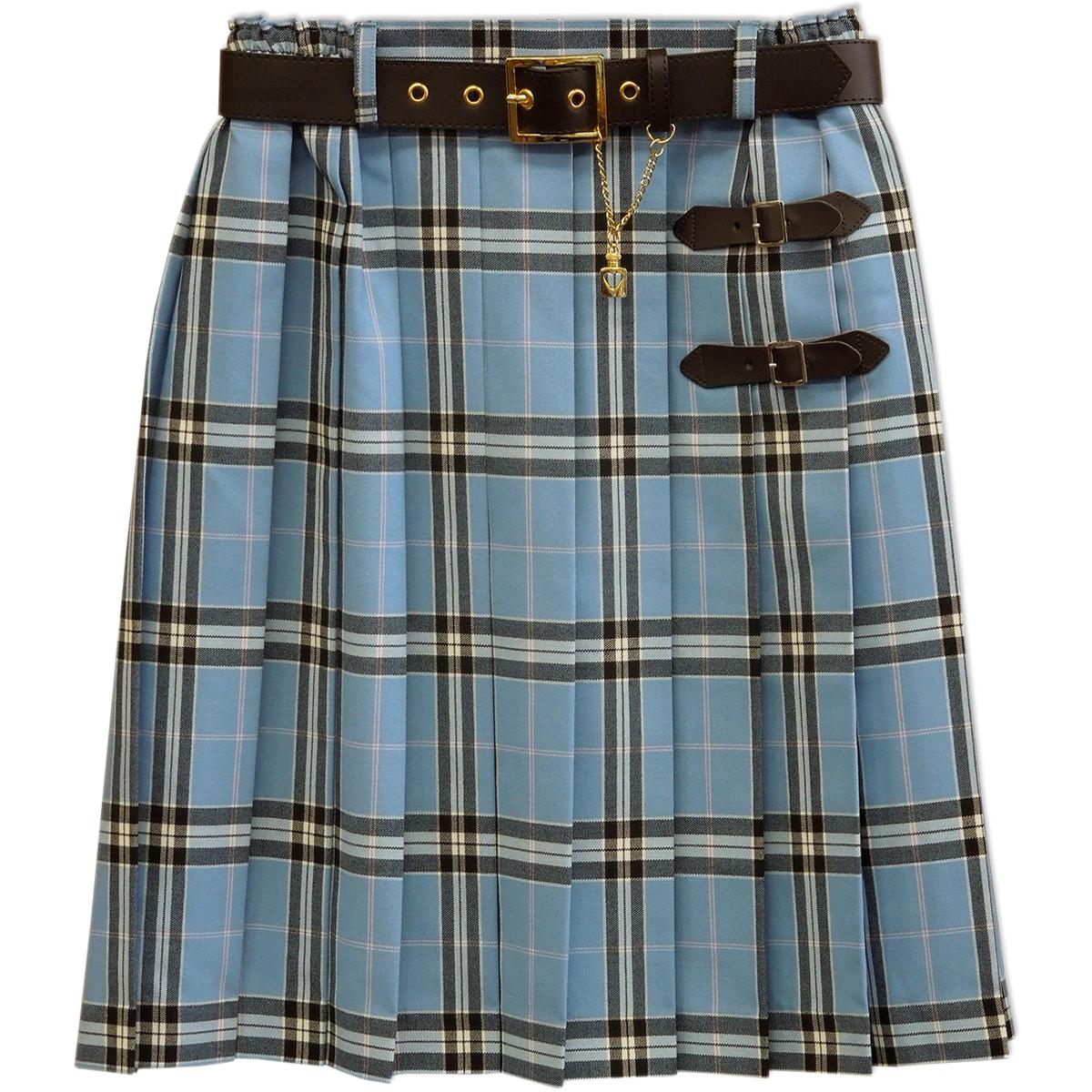 01926114d ... Skirt 9203 beige skirt blues cart 160 Bullitt check with child pleated  skirt lattice pleated skirt ...