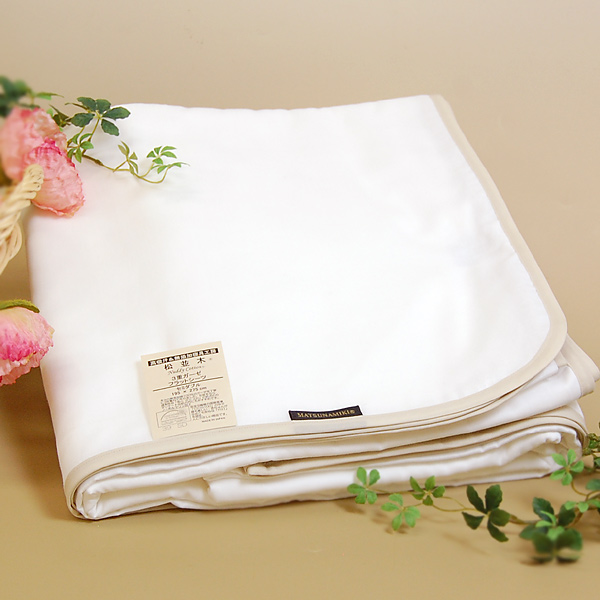 "In the flat sheet * semi-double size ★ 195*275 bed group for the gauze bed! 100% of in winter warm cotton which is kind to さらり skin in the summer additive-free gauze three folds sweat perspiration fast-dry / circle washing OK ""product made in Japan"" gauz"