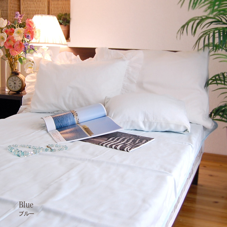 """""""Gauze sheets easy * double size ' 120 × 210 ★ beige Brown pink blue summer without hesitation was the winter, skin-friendly cotton 100% all season sleeping absorption sweat drying wash OK allergic eczema sheet bed flashed easily attaches to fitters"""
