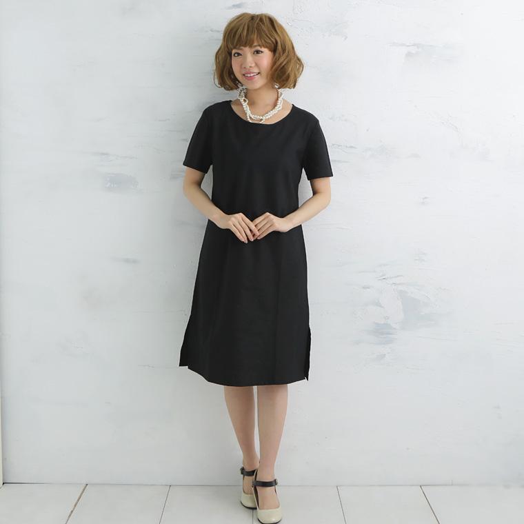 Long T-Japan salary comfortable wear! Very gentle gauze 2 black, beige and off-white gasewan pieces sleeve ad sensitive skin allergies