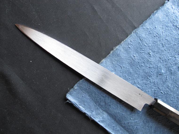 Blue 1 steel HONYAKI Sashimi kitchen knife (270mm)