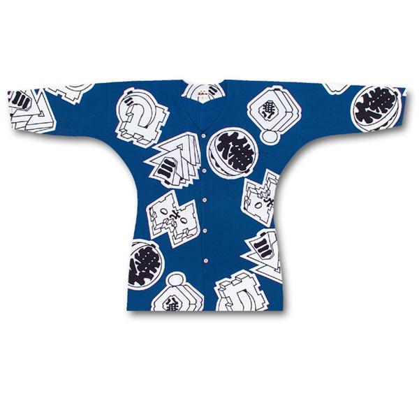 女性用鯉口シャツ 江戸一 特撰手拭素材:綿100%柄:まといサイズ:小、中、大