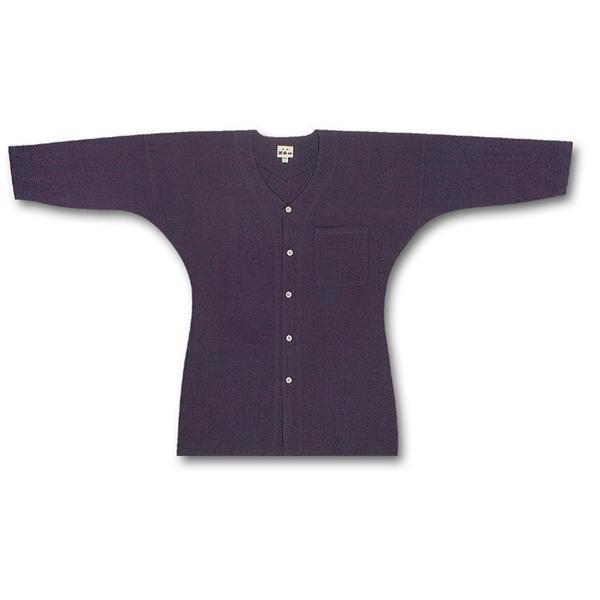 女性用鯉口シャツ  青縞 江戸一 素材:綿100%サイズ:小、中、大
