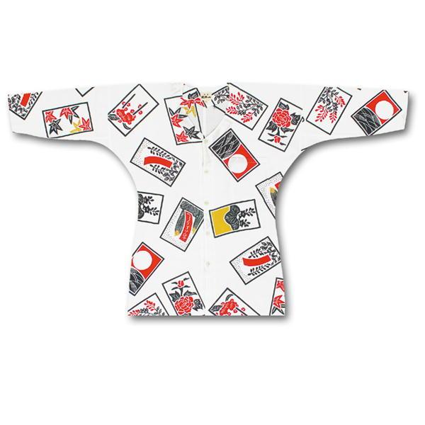 女性用鯉口シャツ 江戸一 手拭素材:綿100%サイズ:小、中、大柄:花札