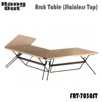 テーブル HangOut ハングアウト FRT Arch Table(Wood Top)FRT-7030WD ステンレストップ 送料無料
