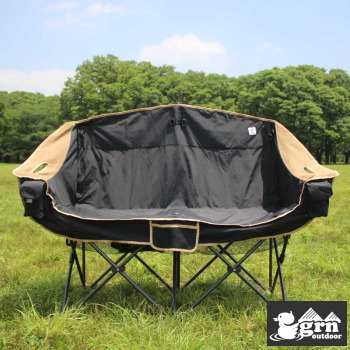 ソファーチェア grm outdoor GO0402F 60/40Cloth Twin Sofa Chair BLACK 送料無料