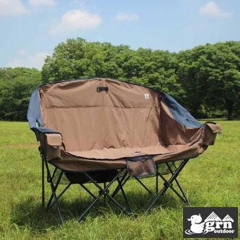 ソファーチェア grm outdoor GO0402F 60/40Cloth Twin Sofa Chair BROWN 送料無料