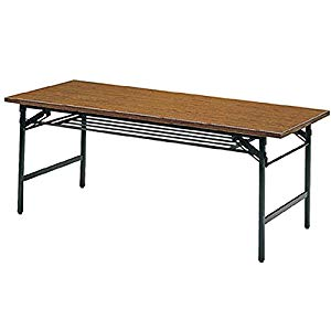 折りたたみ会議テーブル 900X600XH700 チーク トラスコ 960