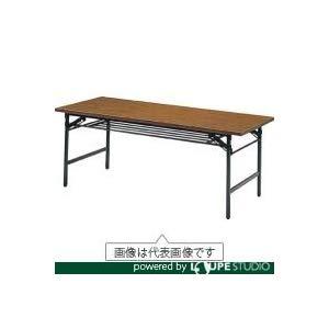 折りたたみ会議テーブル 1500X750XH700 チーク トラスコ 1575