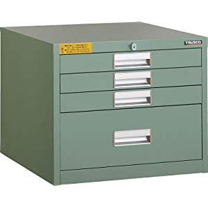LVE型キャビネット 500X550XH420 引出4段 トラスコ LVE-421