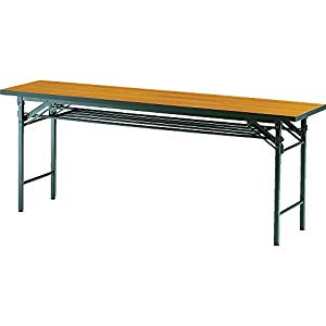 折りたたみ会議テーブル 1800X450XH700 チーク トラスコ TCT-1845 T