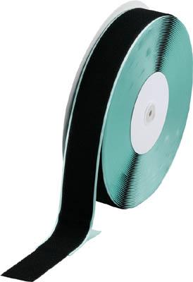マジックテープ 糊付B側 幅50mmX長さ25m 黒 トラスコ TMBN-5025-BK