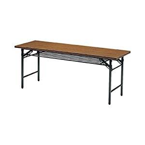 折りたたみ会議テーブル 1800X450XH700 チーク トラスコ 1845