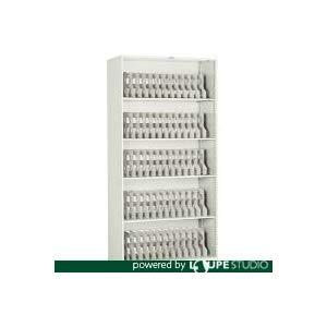 フォルダーラック 880X400XH1760 棚板4枚付 NG トラスコ FR-603 NG