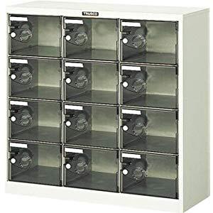 シューズケース 12人用 900X380XH880 透明 トラスコ SC-12PC