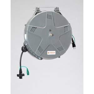 AC125V/6Ax 10m コードリール(自動巻) エスコ EA815SS-6