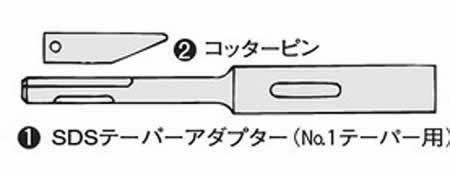 DIY工具用品 先端パーツ 格安 価格でご提供いたします 穴あけ ネジ締めパーツ ボッシュ 期間限定お試し価格 SDSテーパーアダプター No.SDS-TA-L