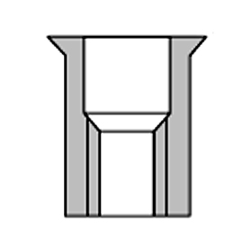 アルミニウムスモールフランジナット 箱入リ トップ工業 AFH-825SF